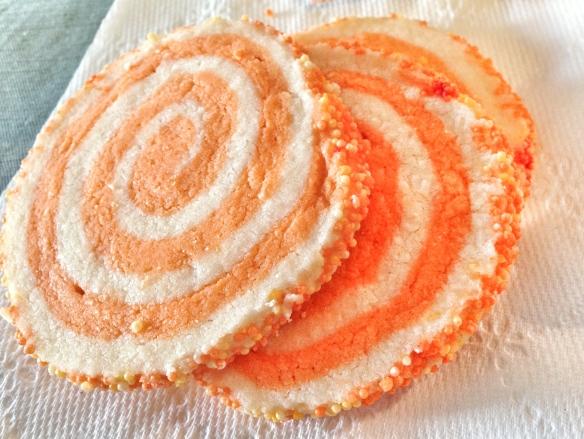 Orange shortbread cookies from heaven