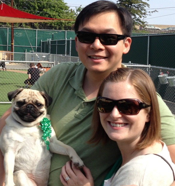 St. Pugtrick's Day with our little family.