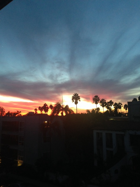 This sunset pic taken from my balcony felt appropriate here.